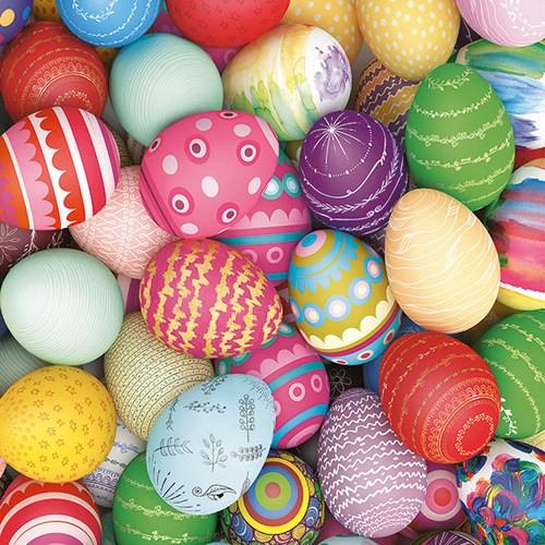 20 Servietten Colourful Eggs 33x33cm