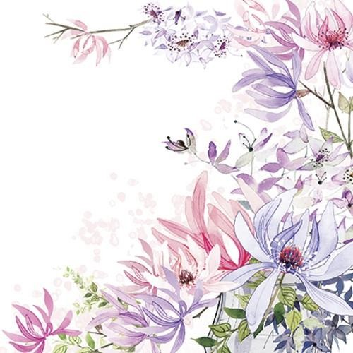 20 Servietten For all Women - Elegante Blumenwiese 33x33cm
