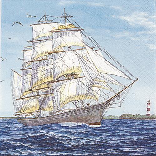 20 Servietten Sailing ship - Segelschiff 33x33cm