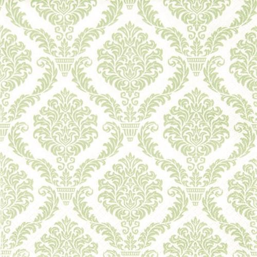 20 Servietten Elegant pastell green - Muster hellgrün 33x33cm
