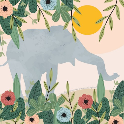 Paper Design Duni Servietten Sumatran Elephant