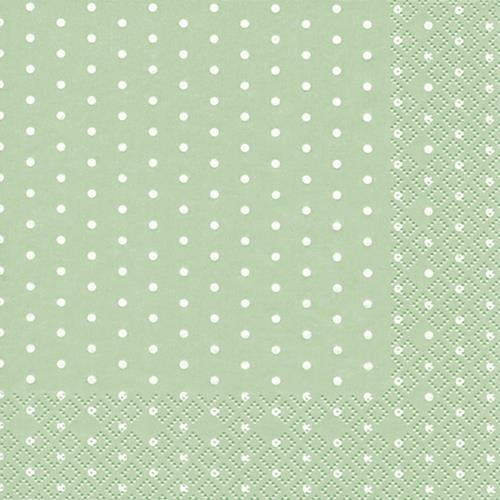 20 Servietten Mini Dots pastel green - Mini-Punkte pastellgrün 33x33cm