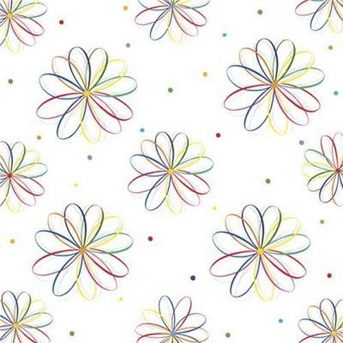 20 Servietten Full Colour Graphic Flowers Pattern – Einfache Blumengrafik 33x33cm