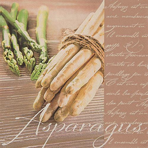 20 Servietten Delicious Asparagus - Delikater Spargel 33x33cm