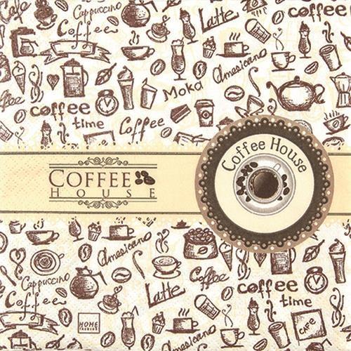 20 Servietten Coffee House 33x33cm