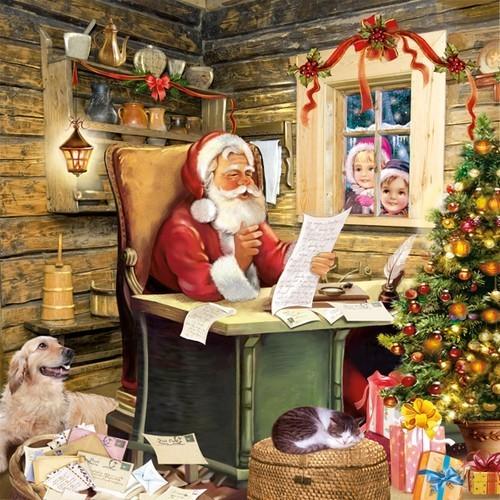 20 Servietten Santas´s Mail – Wunschzettel an Santa 33x33cm