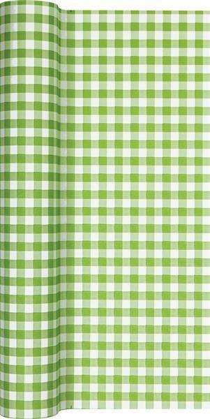 Tischläufer Karo grün 490x40cm