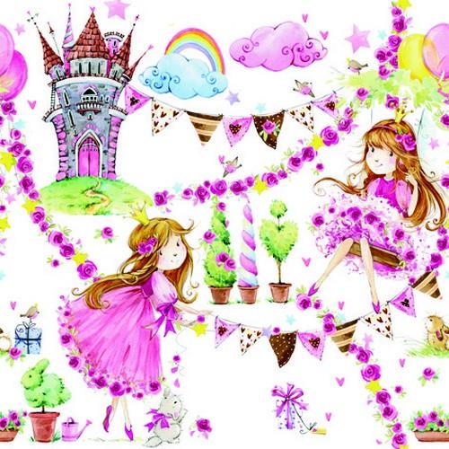 ti-flair Servietten Fairy Tale Princess 33x33cm