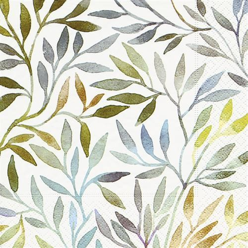 20 Servietten Willow Leaves – Verzweigte Blumenranken 33x33cm