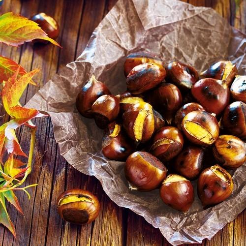 20 Servietten Chestnuts 33x33cm