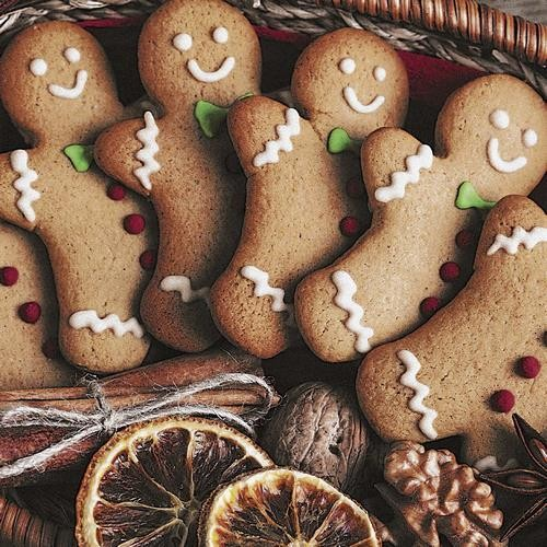 20 Servietten Gingerbread Men 33x33cm