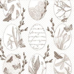 20 Servietten Delicate Easter - Zarte Natur zu Ostern 33x33cm