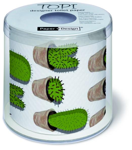 Toilettenpapier Rolle bedruckt Cactuses - Kaktusse