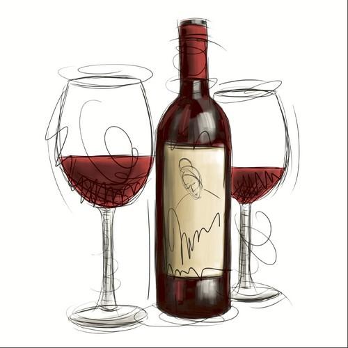 20 Servietten Vino Rosso – Schluck vom Rotwein 33x33cm