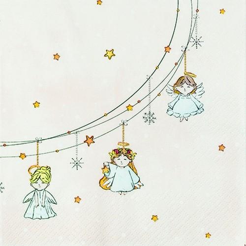 20 Servietten Little Angels 33x33cm