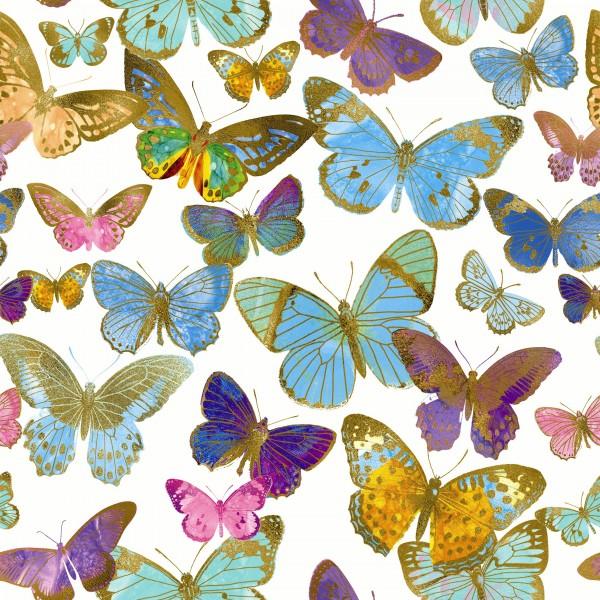 20 Cocktailservietten Golden Butterflies – Goldene Schmetterlinge 24x24cm