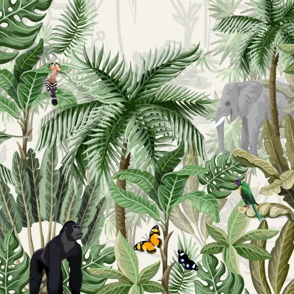 20 Cocktailservietten Rainforest – Tag im Regenwald 24x24cm